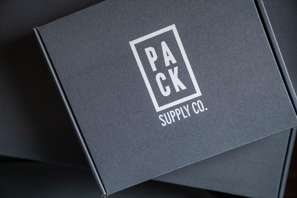 Sleek Gray Shipping Boxes | Pack Supply Co. | Product Photography + Styling | Chromatone Studios