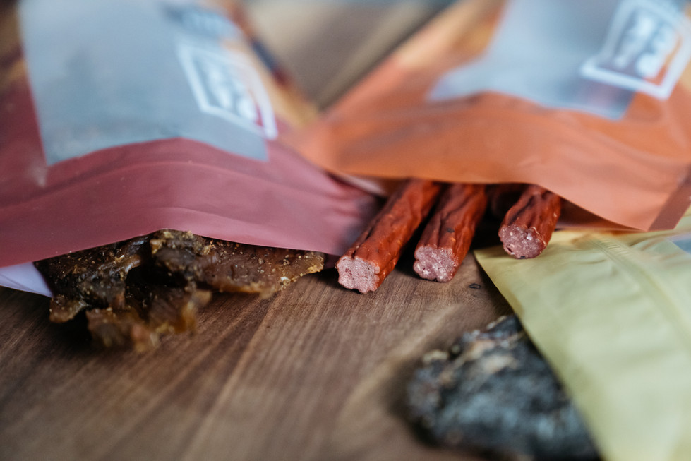 Assorted Beef Jerky | Pack Supply Co. | Product Photography + Styling | Chromatone Studios