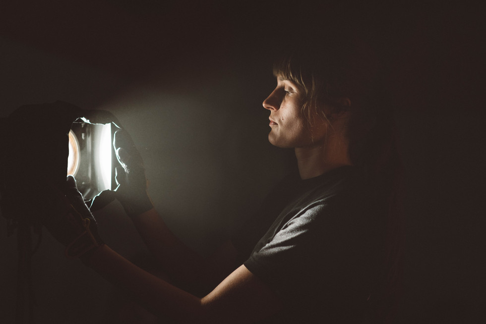 Man Touching Light | Portrait/Fashion Photography | Chromatone Studios