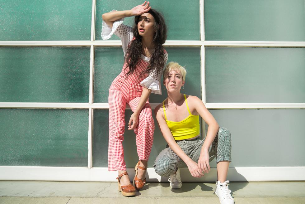Two Models Posing in Sunlight | Portrait/Fashion Photography | Chromatone Studios