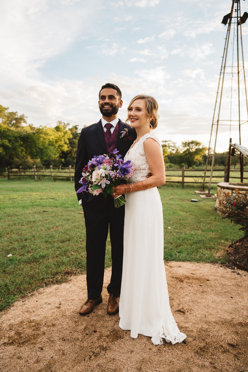 Bride and Groom with Flowers | Wedding Photography | Chromatone Studios
