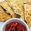 Vegetarian Quesadilla or Naan sandwich