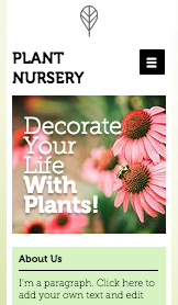See All Templates website templates –  Plant Nursery