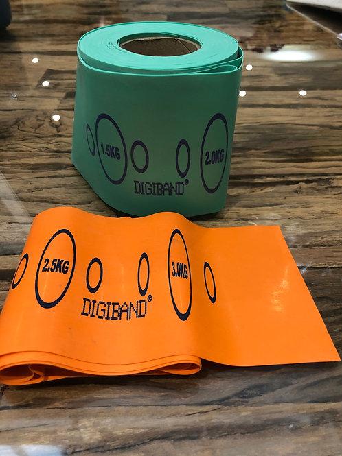 1 Green & 1 Orange Resistance bands - 1 Metre Long each