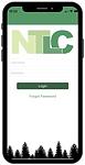 Smart phone screen with NTLC app login