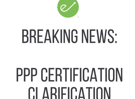 BREAKING NEWS - PPP Certification Clarification