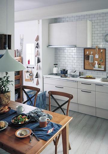スタイリッシュ,キッチン,食堂,新築住宅