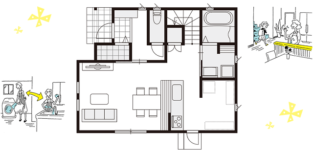 間取り,子供部屋,書斎,自由設計