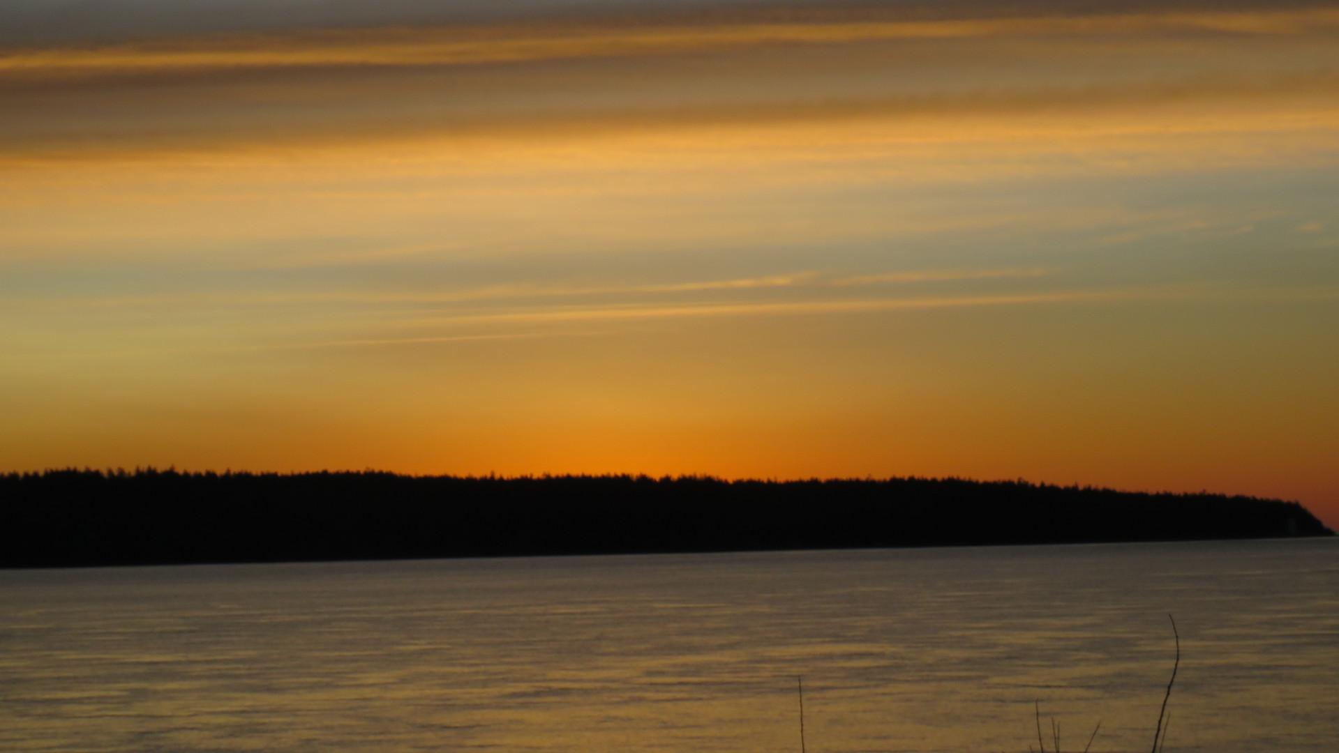 Sun Goes Down Behind Quadra Island.JPG
