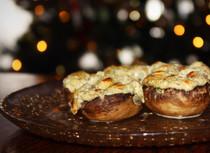 Bacon-Ranch Stuffed Mushrooms| GF-SF-EF