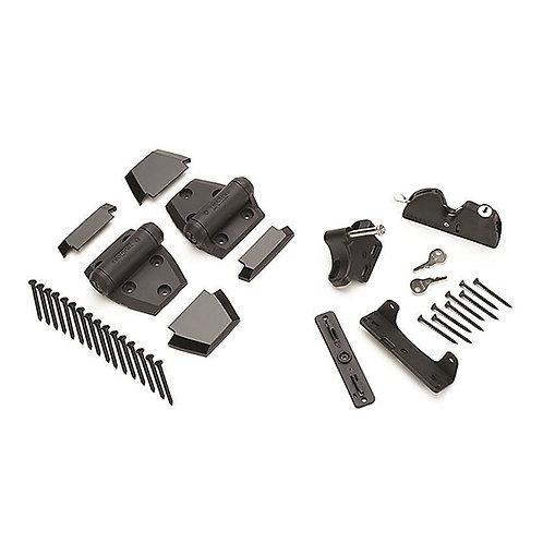 Aluminum Gate Hardware - Hasp & Hinges