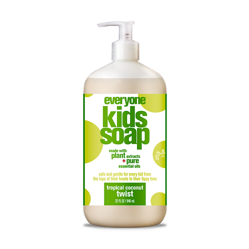 Everyone Kids 3 in 1 Shampoo, Bubble Bath and Body Wash Tropical Coconut Twist