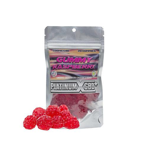 CBD Raspberry Gummies by Platinum X CBD