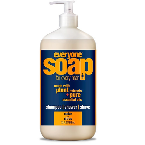 Everyone Mens 3 in 1 Shampoo, Shower and Shave Cedar Citrus