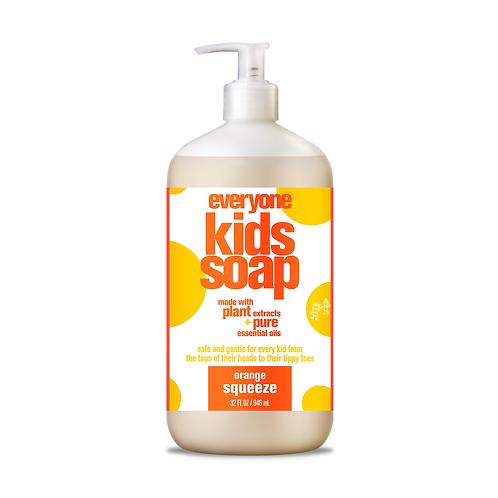 Everyone Kids 3 in 1 Shampoo, Bubble Bath and Body Wash Orange Squeeze