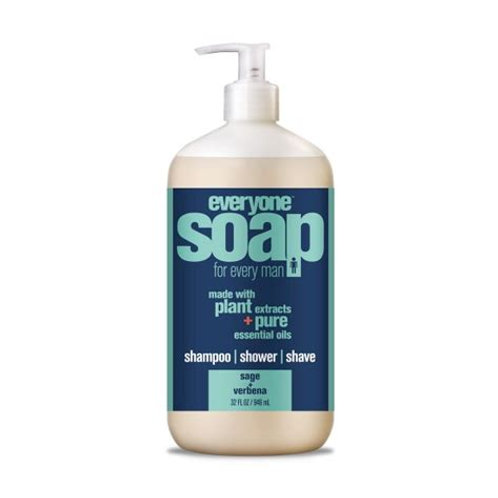 Everyone Mens 3 in 1 Shampoo, Shower and Shave Sage Verbena