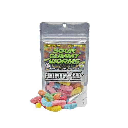 CBD Sour Gummy Worms by Platnium X CBD