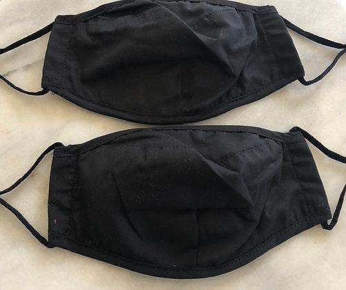 Black Cotton Mask (2 for $20)