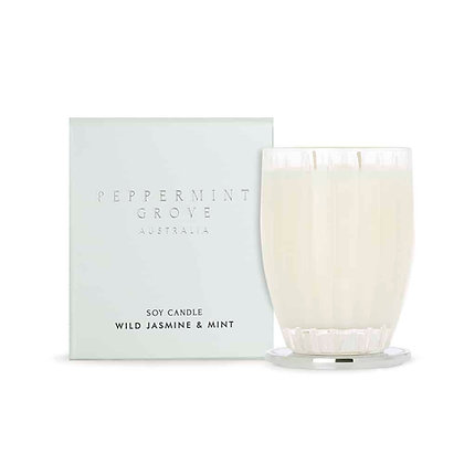 Peppermint Grove Candle - Wild Jasmine & Mint (350g)