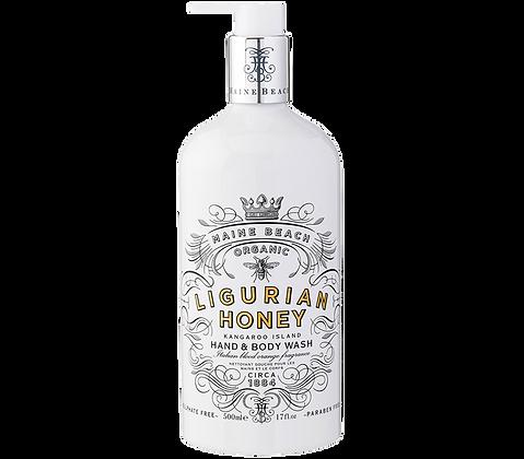Organic Ligurian Honey Hand & Body Wash 500ml