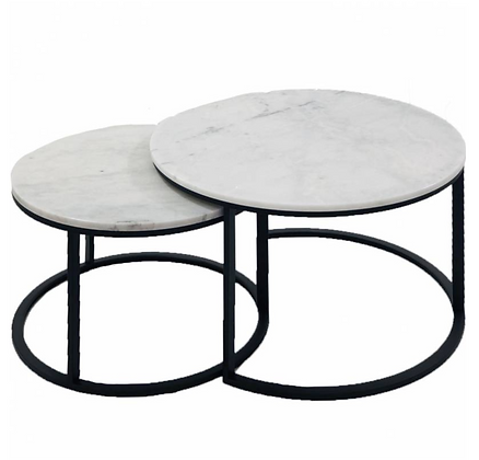 White Marble Nesting Tables