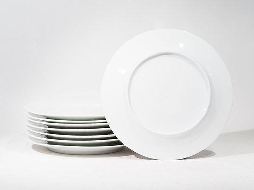 Lot de 8 assiettes blanches