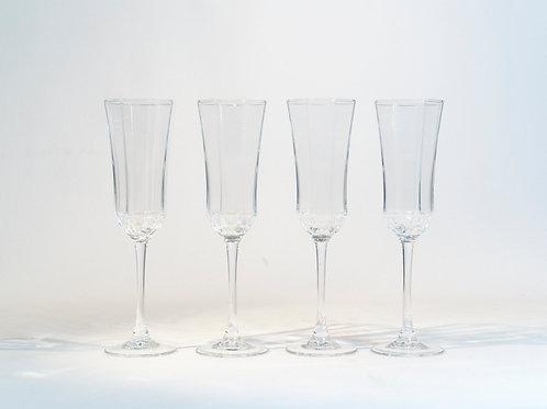 Ensemble de 4 verres à champagne