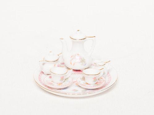 Service à thé miniature en porcelaine 10 pièces
