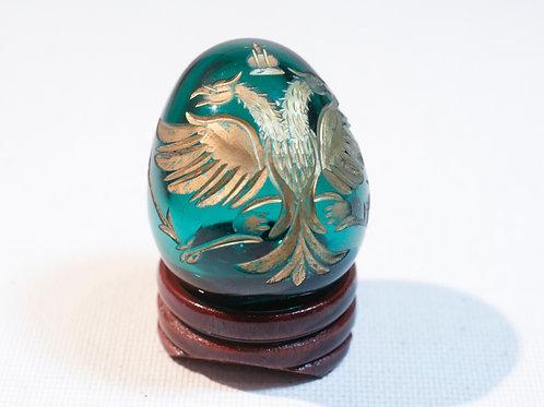 Oeuf en verre soufflé . Style Fabergé