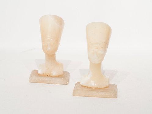 Statuette du buste Pharaon Nefertiti en Albatre