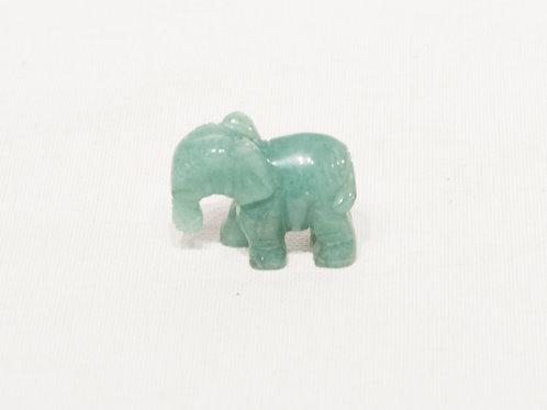 Statuette d'éléphant en jade