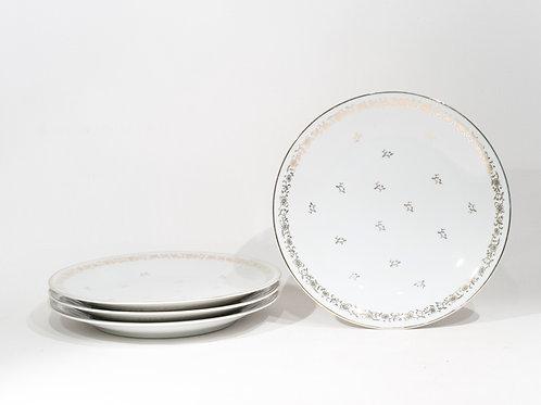 Lot de 4 assiettes en porcelaine de Limoge