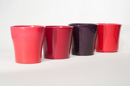 Lot de 4 cache-pots en céramique