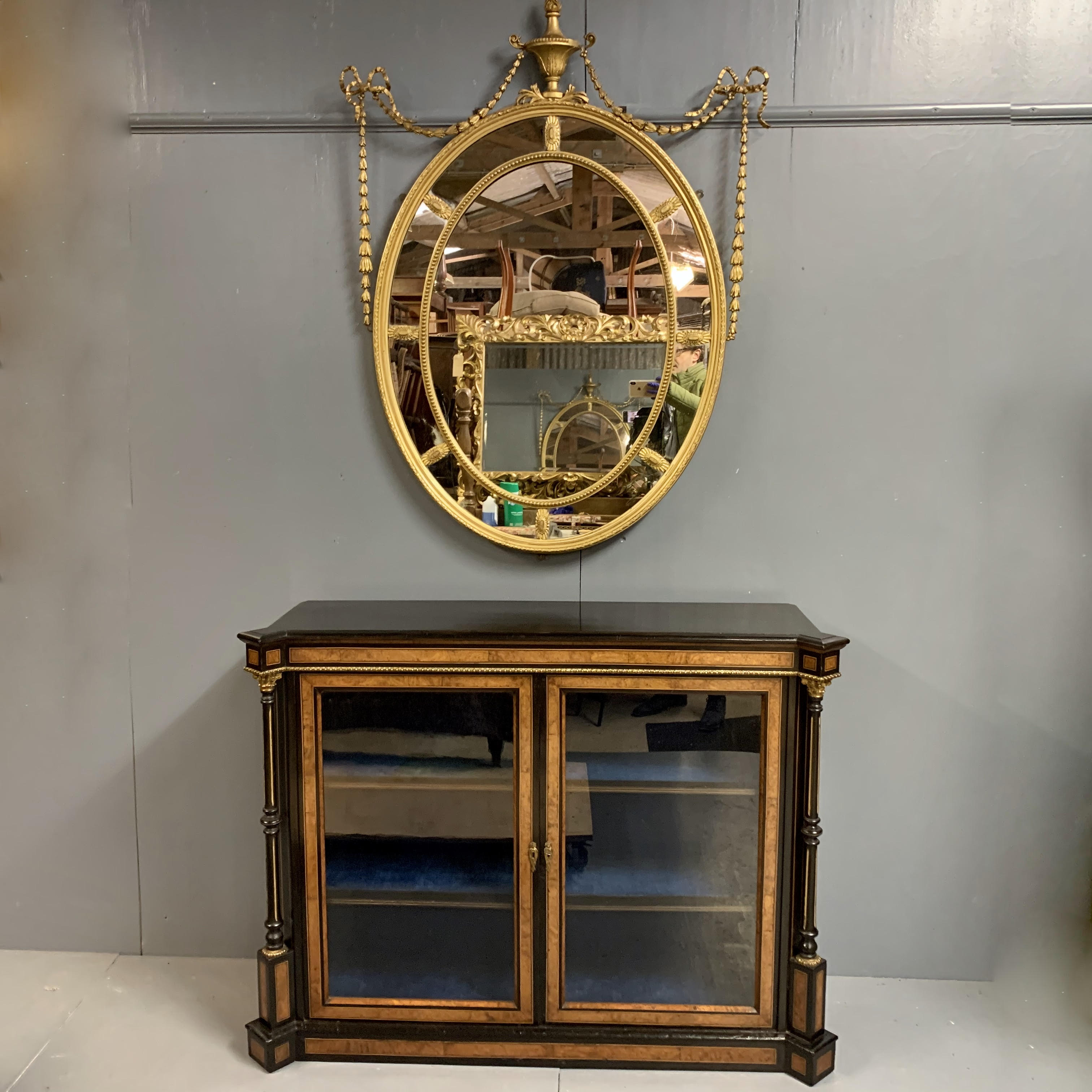 Mirror and Cabinet