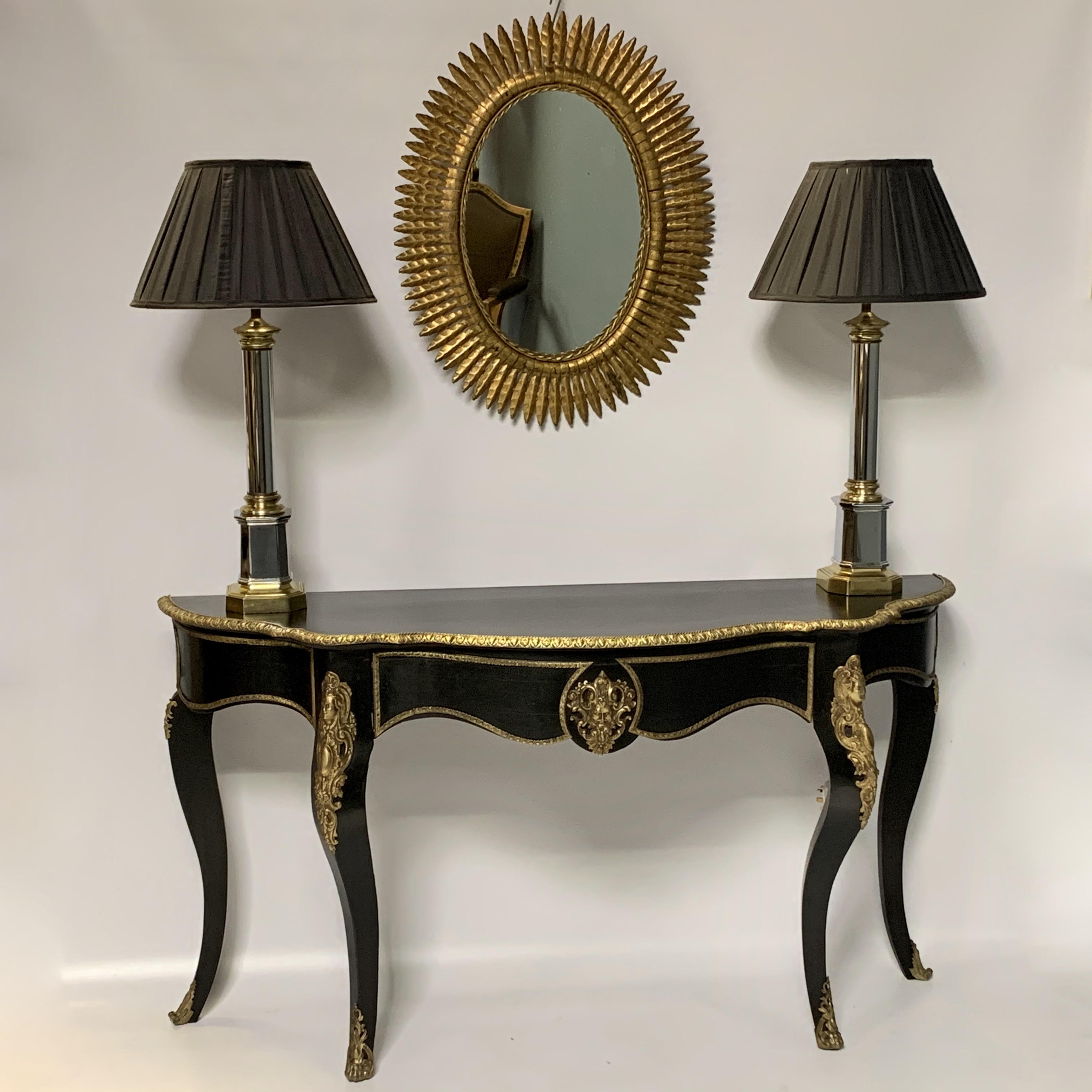 Mirror, Table and Lamps