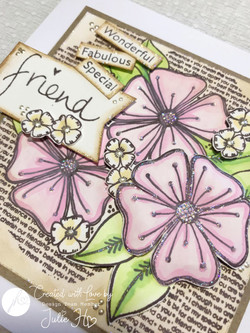 JH-A5-1002 BLOOMING FLORALS A5 STAMP SET