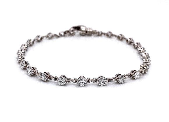 14kt White Gold 2.09ctw Round Diamond Bracelet