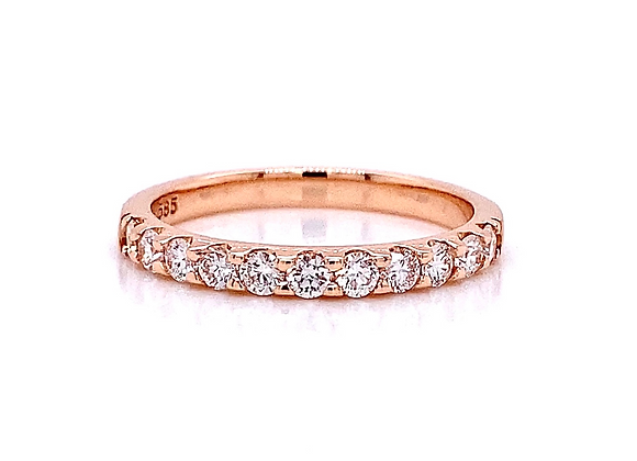 14kt Rose Gold 0.52ctw Round Diamond Band