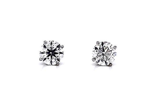 14kt White Gold 2.03ctw Round Diamond Stud Earrings