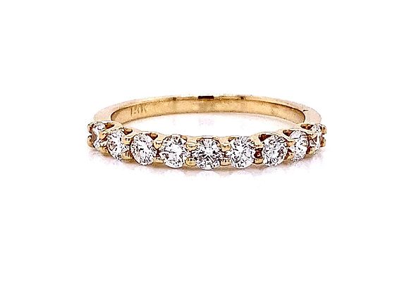 14kt Yellow Gold 0.63ctw Round Diamond Band