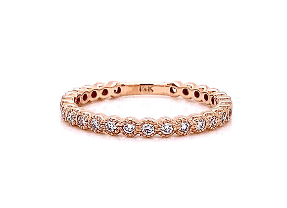 14kt Rose Gold 0.31ctw Round Diamond Band