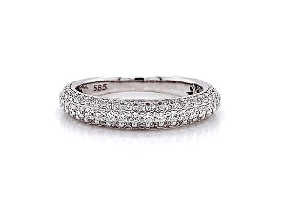 14kt White Gold 0.79ctw Round Diamond Band