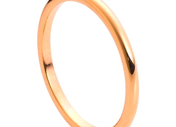 Rose Tungsten High Polished Gents Band