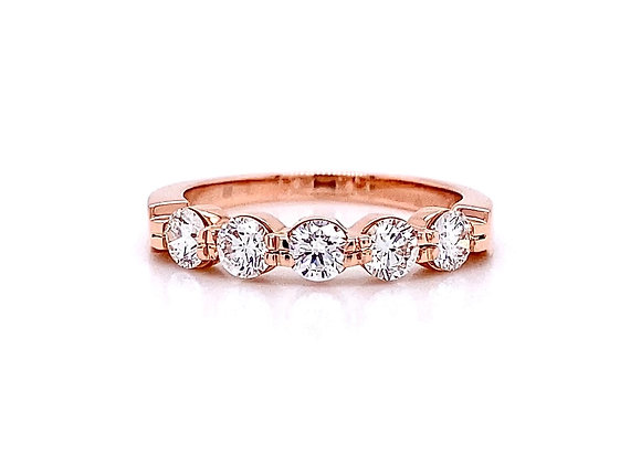 14kt Rose Gold 0.76ctw Round Diamond Band