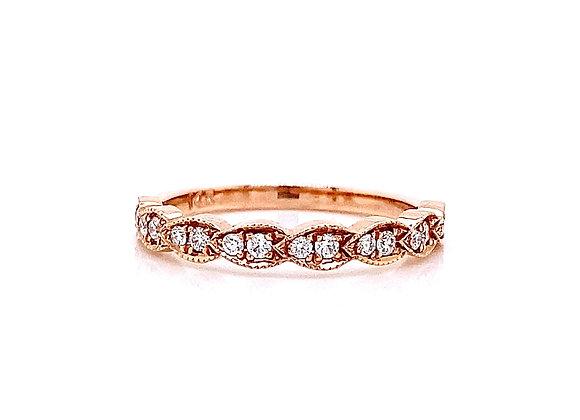 14kt Rose Gold 0.19ctw Round Diamond Band