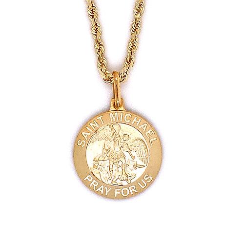 14kt Yellow Gold Saint Michael Pendant