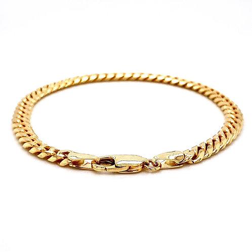 "14kt Yellow Gold 8"" 5.12mm Miami Cuban Lobster Clasp Bracelet"