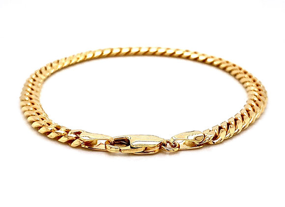 "14kt Yellow Gold 8"" 5.12mm Miami Cuban Lobster Clasp Bracelet"