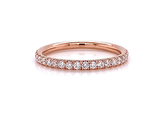 14kt Rose Gold 0.30ctw Round Diamond Band