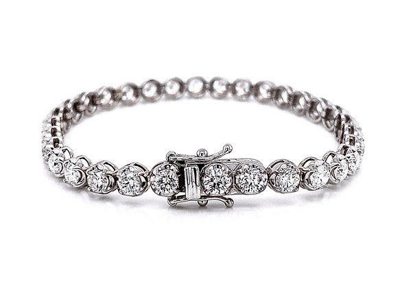 14kt White Gold 7.90ctw Round Diamond Tennis Bracelet